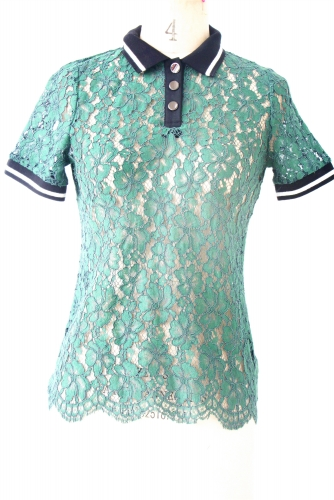 Turleneck  Lace t-shirt with flower