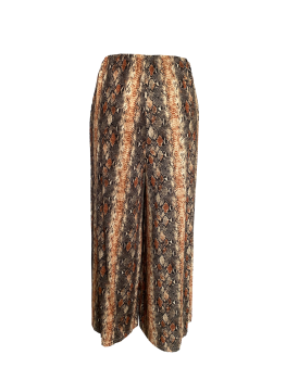 Fashionable retro print wide-leg pants are versatile with high-waisted slim pants