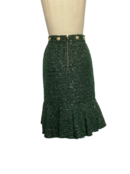 Everything goes with a lacy MIDI skirt